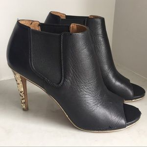 Coach Leather and Snakeskin Booties 7.5 Heels